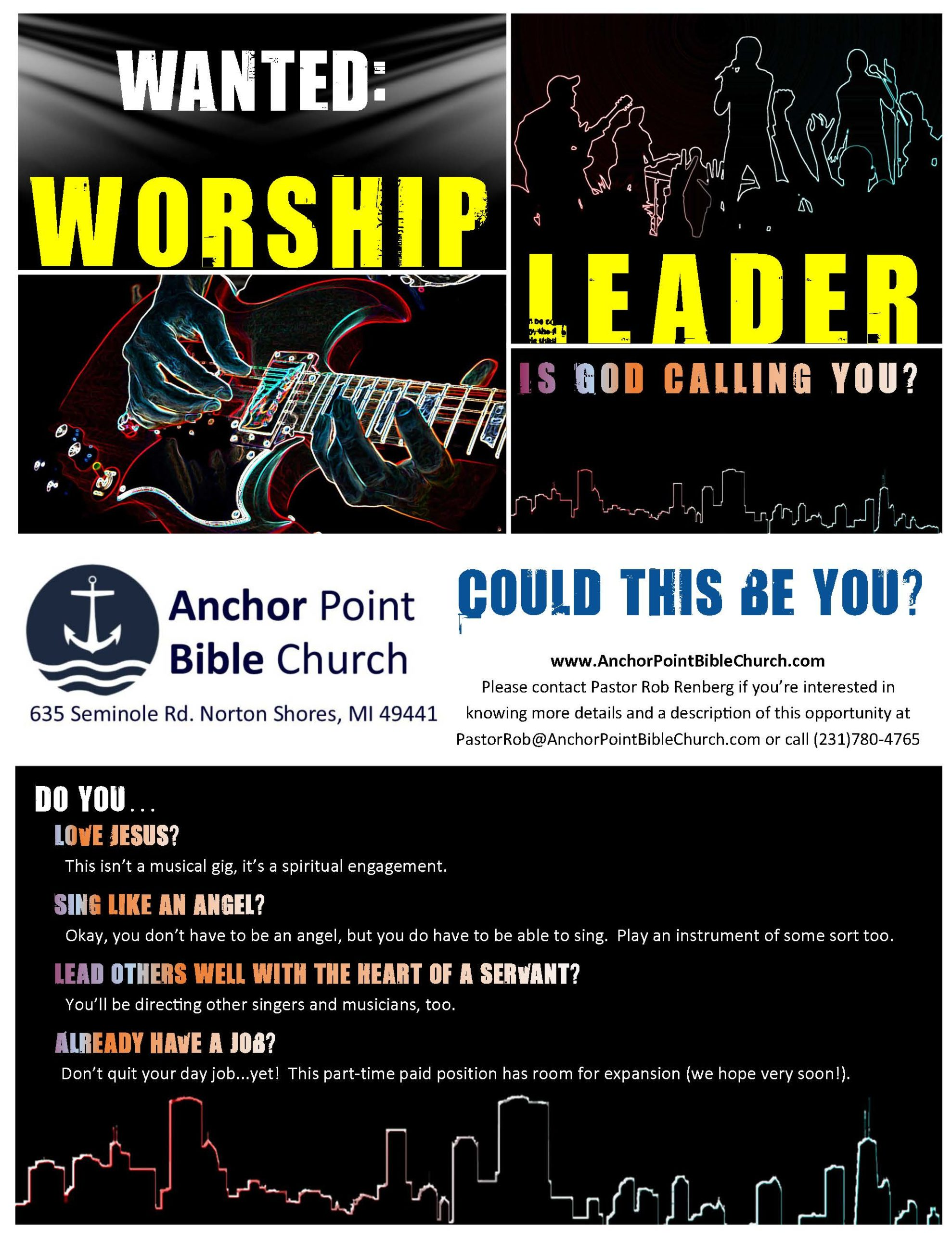 Worship Leader Job Opportunity