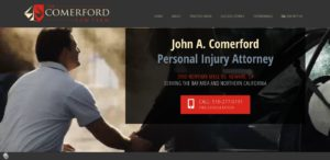 John Comerford - Personal Injury Lawyer Website Design and Development